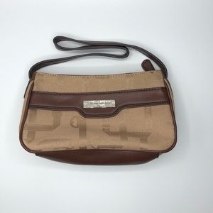 NWOT Etienne Aigner Tan Brown Print Shoulder Bag